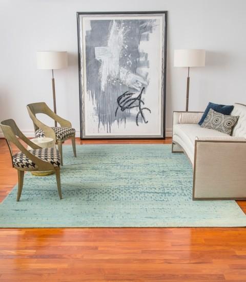 Modern rug for Salle sejour moderne