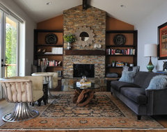 Modern Rustic Living Room eclectic living room