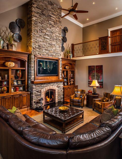 Modern Rustic Refined Ranch - Rustic - Living Room - Charleston ...