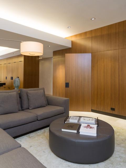 Modern scientist residence moderno soggiorno new for Soggiorno new york
