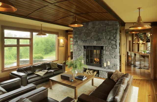modern shaker contemporary living room burlington by cushman design group. Black Bedroom Furniture Sets. Home Design Ideas