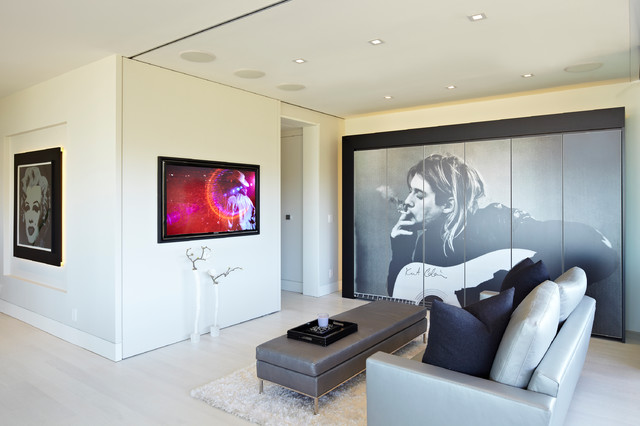 Modern Showbiz by SB LA contemporary-living-room