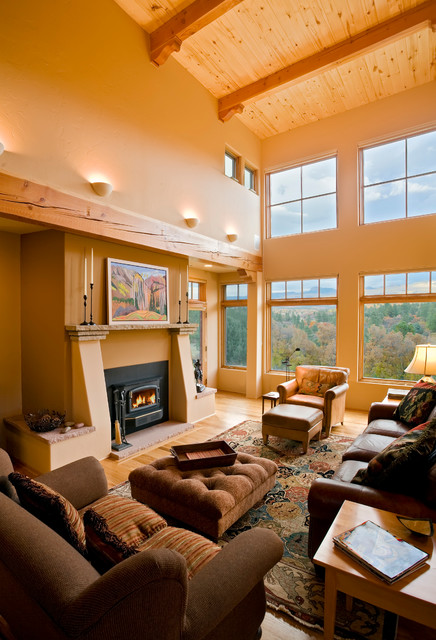 modern southwest style home southwestern living room