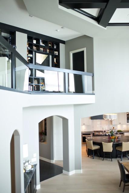 Modern steampunk transitional living room edmonton for Interior design edmonton