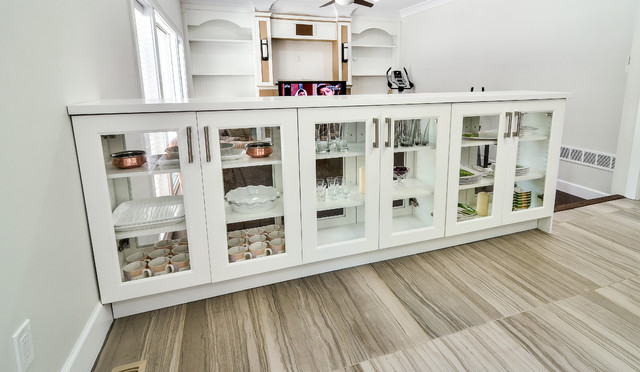 Modern Storage Cabinets With Glass Vancouver Living Room