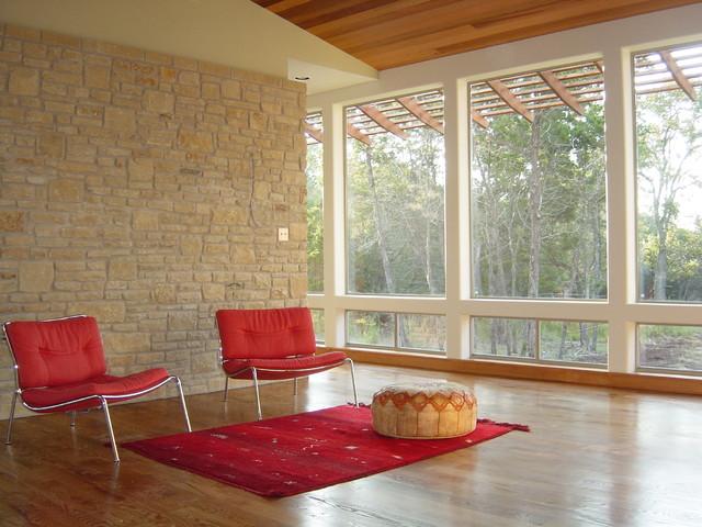 Modern Texas Ranch rustic-living-room