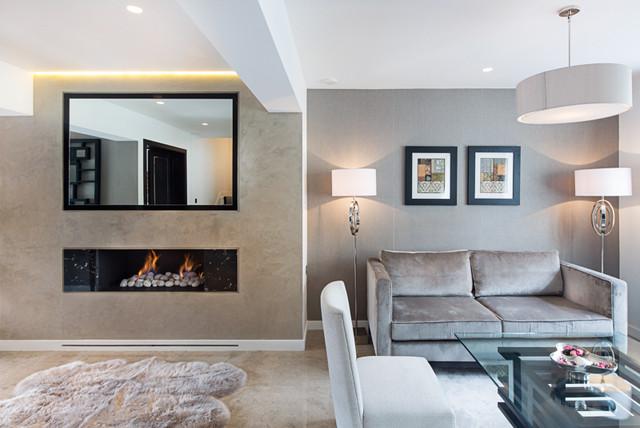 Modern town house elegant neutral contemporary for Elegant neutral living rooms