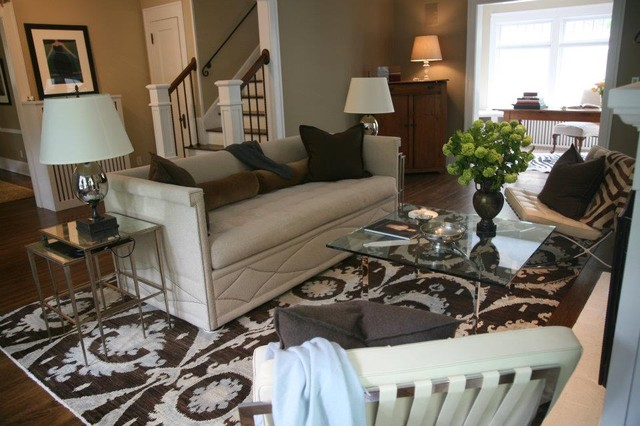 Modern traditional eclectic living room minneapolis for Traditional eclectic living rooms