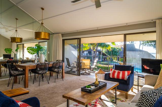 Modern Tropical Condo Tropical Living Room Hawaii By