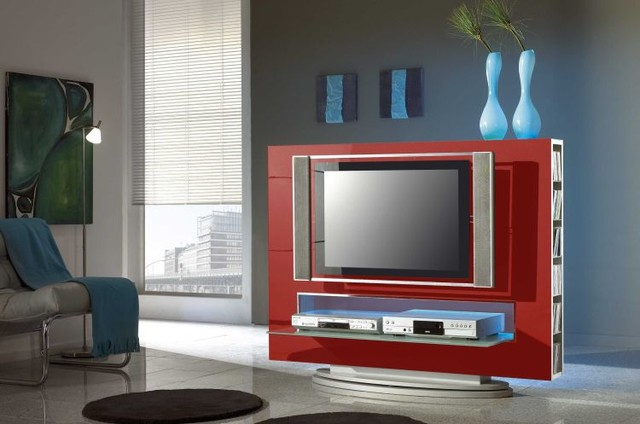 Modern TV Stand Media 85 Red   429.00 Modern Living Room