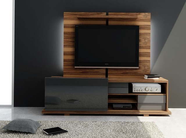 Modern tv stand move by huppe modern living room new york by mig furniture design inc - Designs of tv cabinets in living room ...
