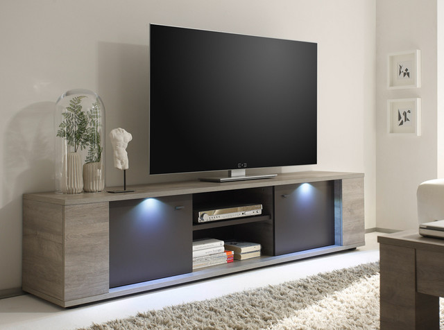 Modern tv stand sidney 75 by lc mobili modern for Living room with 65 inch tv