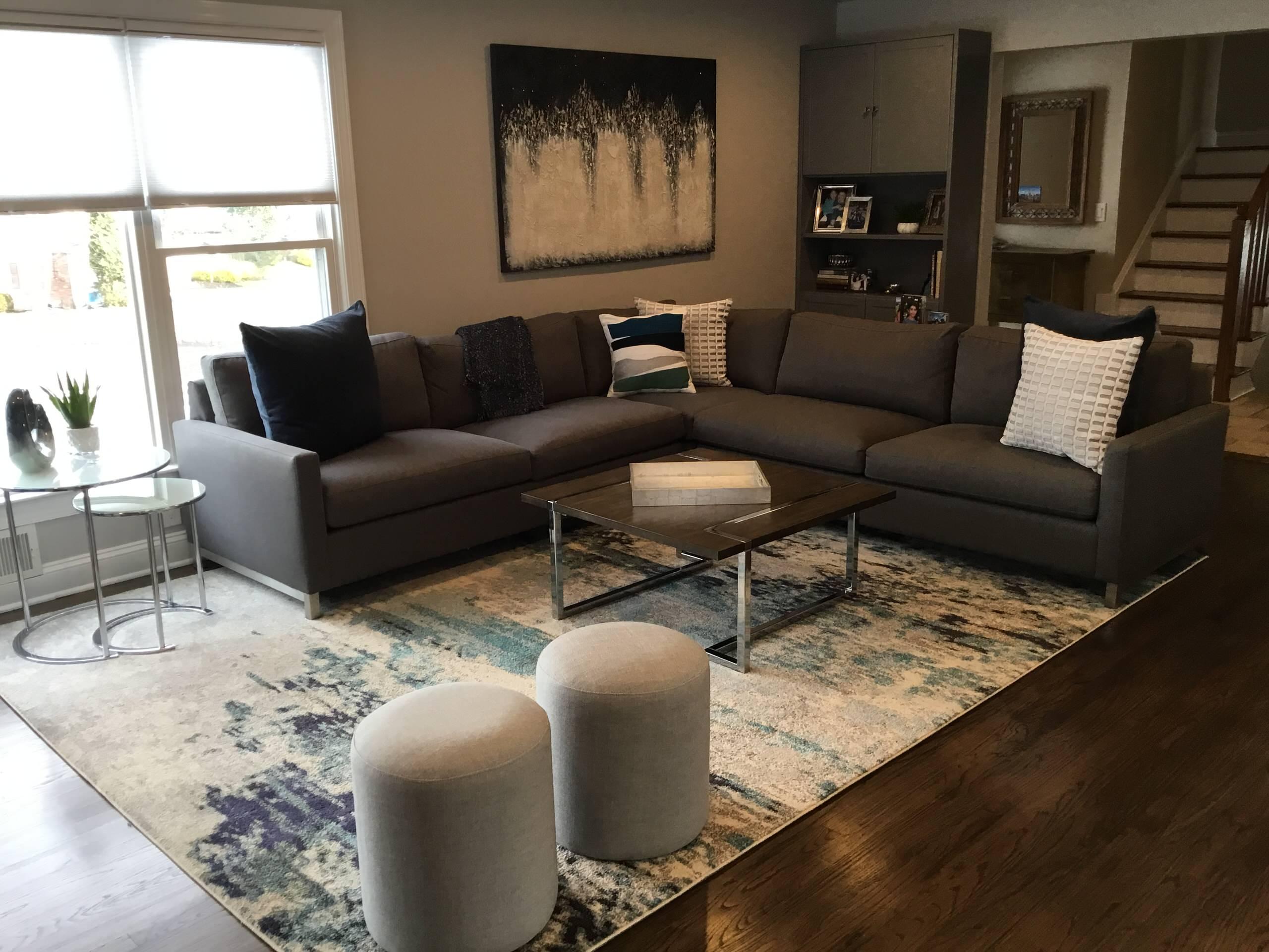 Modern Updated Family Room