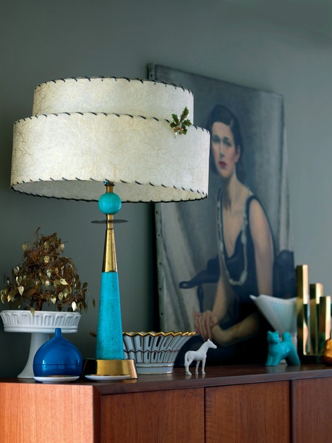 Modern Vintage by Emily Chalmers eclectic-living-room