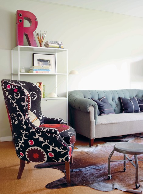 Modern vintage by emily chalmers eclectic living room for Modern vintage living room