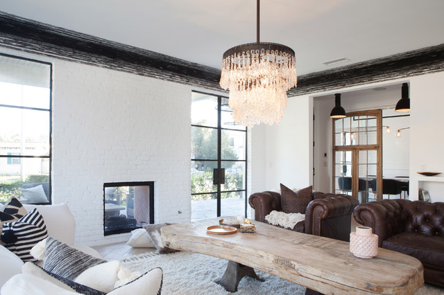 Modern Vintage Country Living Room Los Angeles By