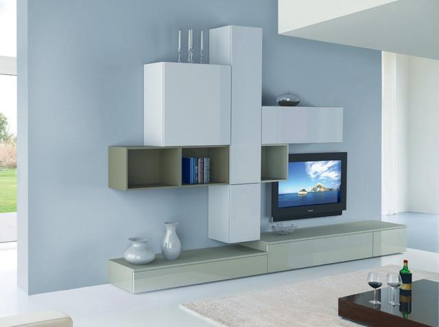 Modern wall unit 3d 17 by artigian mobili italy 4 125 for Mobili living moderni