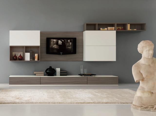 Modern wall unit velvet 915 by artigian mobili italy for Mobili living moderni
