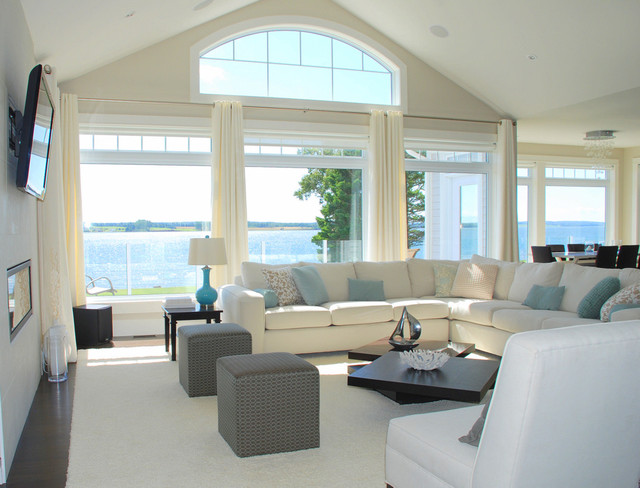 Modern White Family Home Living Room Other By