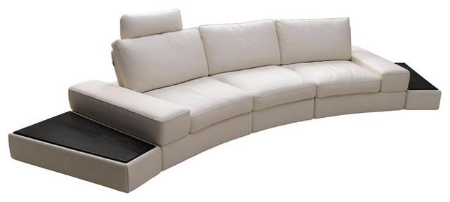 Modern White Sectional Sofa In Top Grain Italian Leather Modern Living Ro