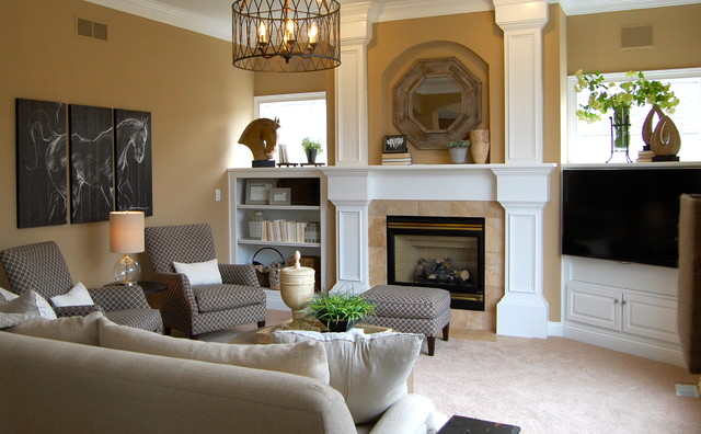 Moffitt farms family room transitional living room for Accents salon bellingham