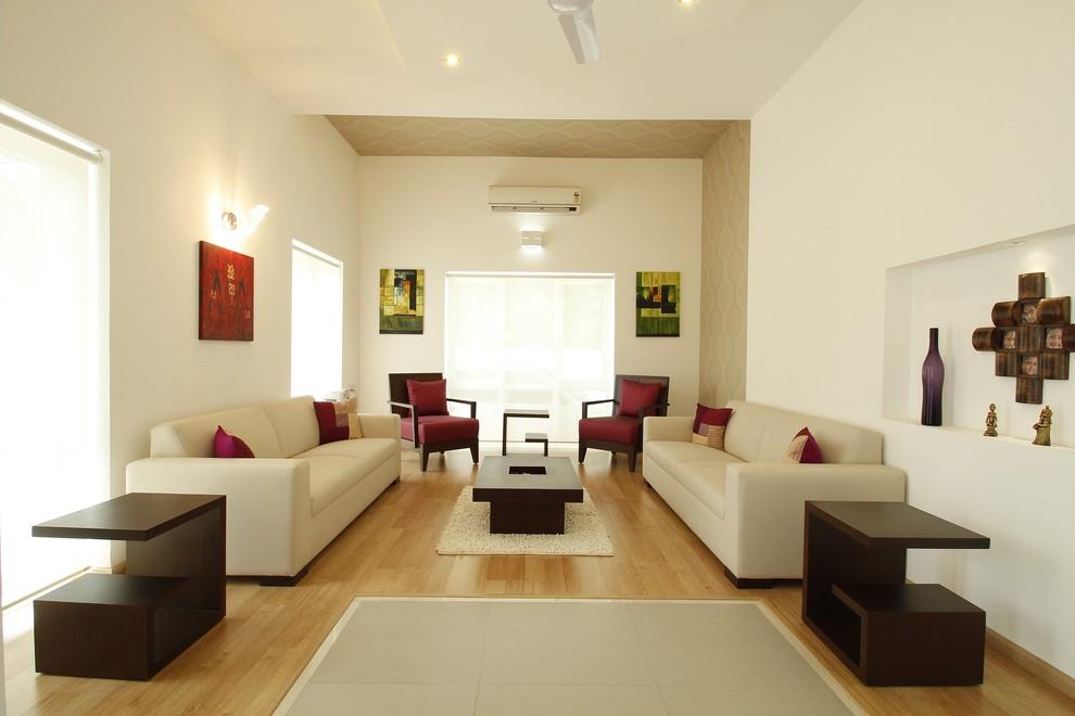 Inspiration for a modern formal living room remodel in Other