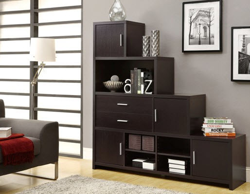 Exceptionnel Monarch Specialties Cappuccino Hollow Core Left Or Right Facing Step  Bookcase Contemporary Living
