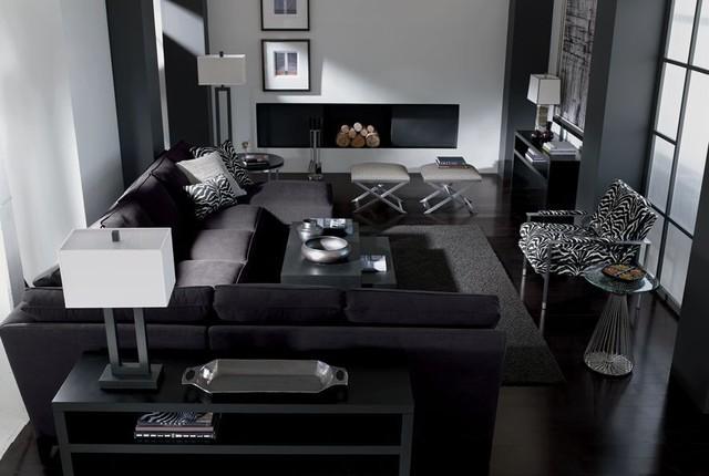 MONOCHROMATIC COLORS Contemporary Living Room