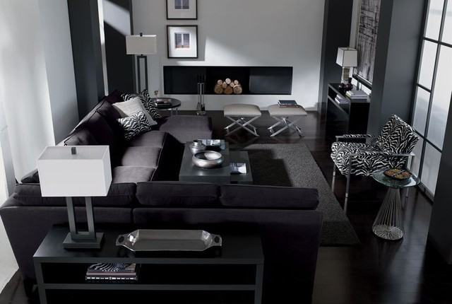 Monochromatic colors for Monochromatic living room ideas