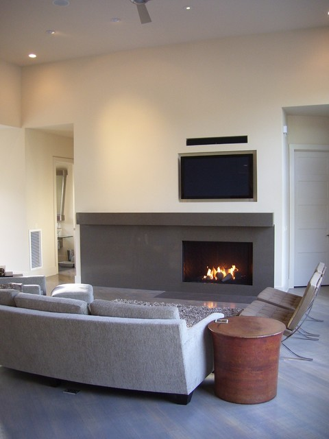 Monolithic modern fireplace - Modern - Living Room - other ...