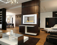 Monte Carlo 2 Sided Ethanol Fireplace by Eco-Feu modern-living-room