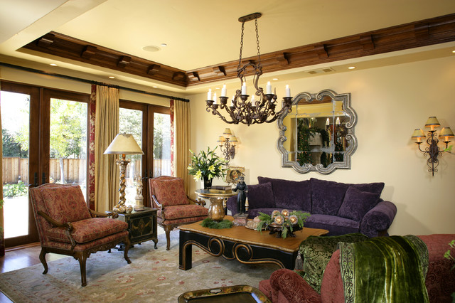 Monte sereno tuscan custom home mediterranean living room san francisco by conrado for Tuscan living room furniture