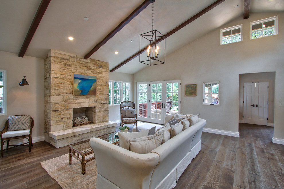 Living room - large transitional formal and enclosed dark wood floor and brown floor living room idea in Other with no fireplace and no tv