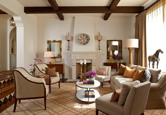 Montecito Andalusian Mediterranean Living Room Santa Barbara By Cabana Home