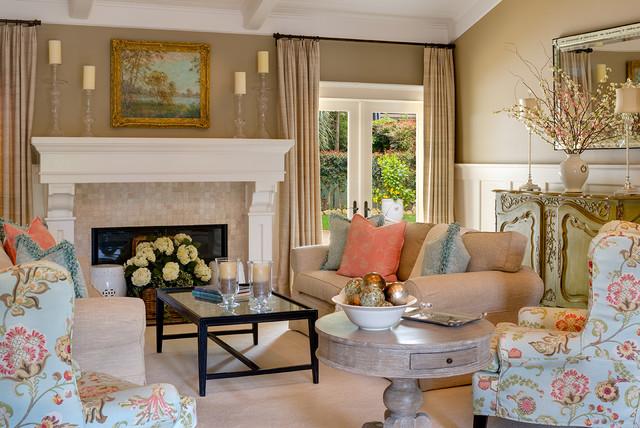 Montecito, California Coastal Living Room
