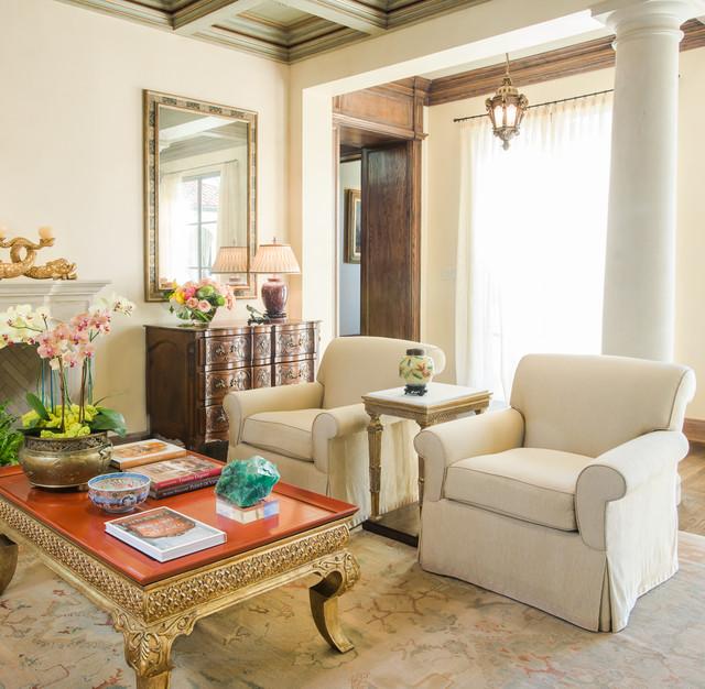 Mediterranean Style Living Room: Montecito Style Home