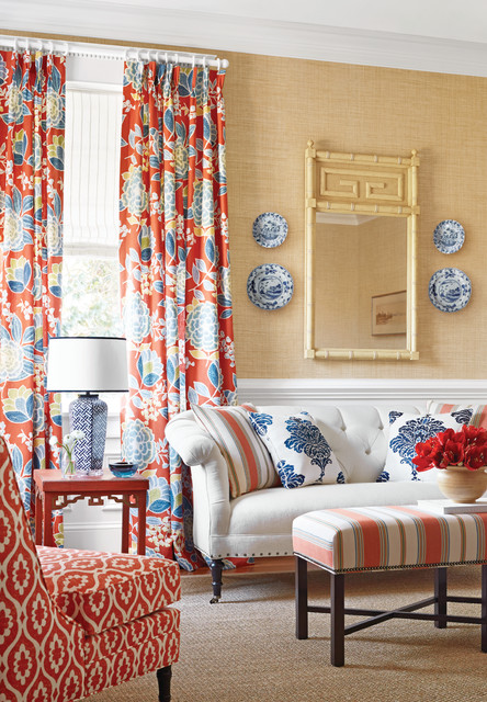 Monterey collection room photography living room - Orange and blue decor ...