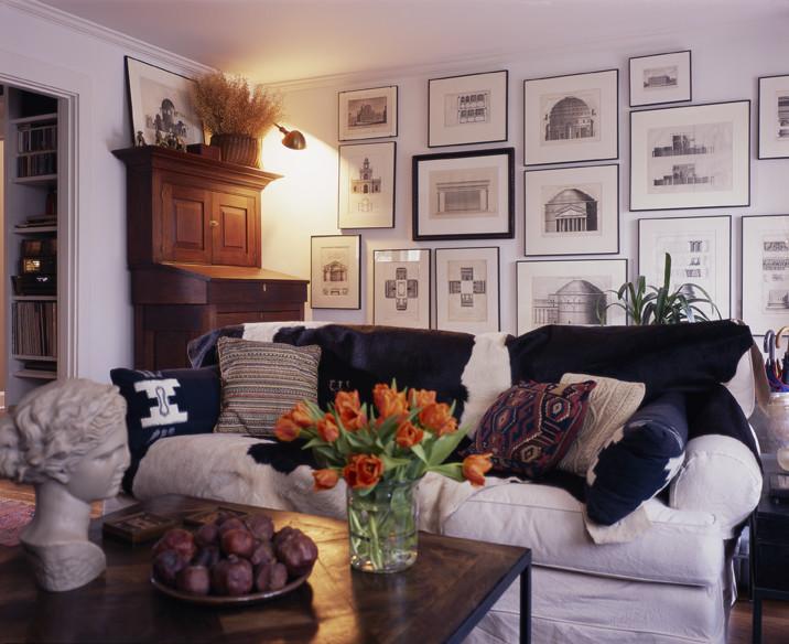 Living room - craftsman living room idea in Seattle