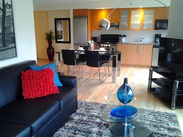 Montreal Condo Suite 1 contemporary-living-room