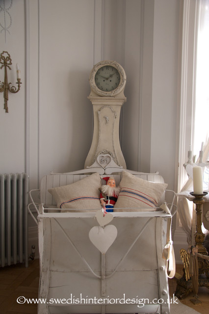 Mora Clock and Swedish Sleigh Couch - Traditional - Living Room - london - by Swedish Interior ...