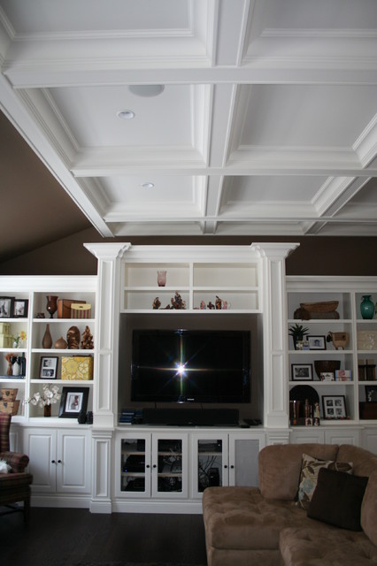 More Customized Molding Moulding Ideas Contemporary Living Room