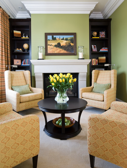 Green Living Room Accents