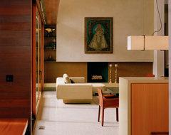 Morley Residence modern-living-room