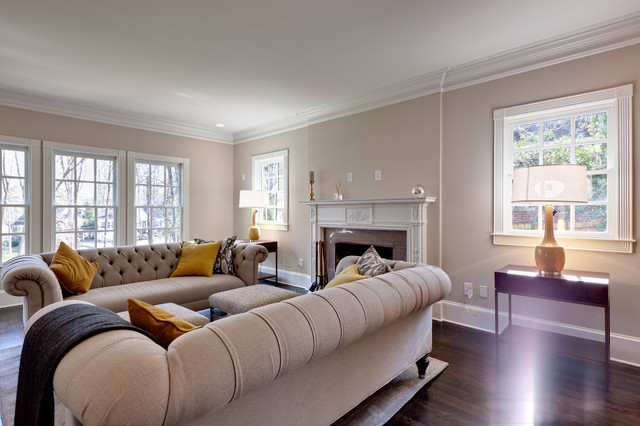 Morningside Make Over Transitional Living Room Atlanta By Blake Shaw Homes