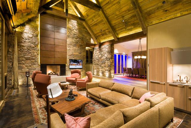 Morningstar Residence rustic-living-room