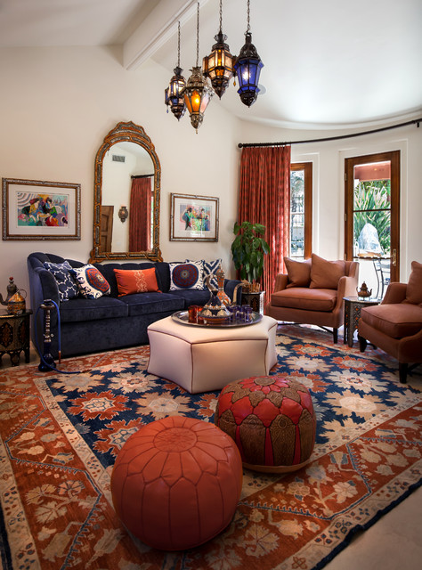 Moroccan cabana mediterranean living room los angeles by maraya interior design for Moroccan living room decor ideas