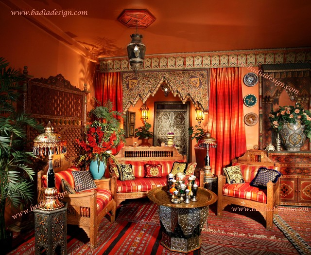 Moroccan home decor ideas mediterranean living room los angeles by badia design inc - Moroccan bedroom ideas decorating ...