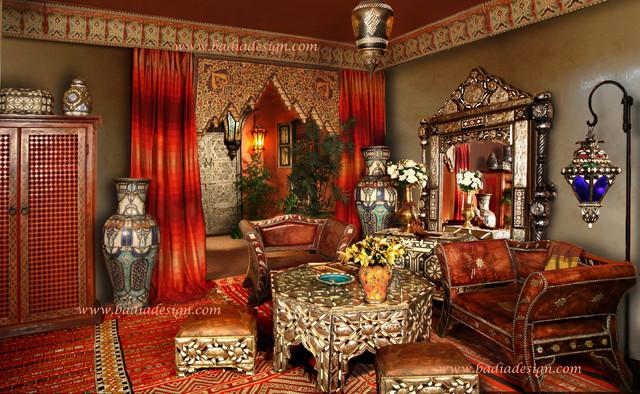 moroccan home furniture mediterr neo sal n los ngeles de badia design inc. Black Bedroom Furniture Sets. Home Design Ideas