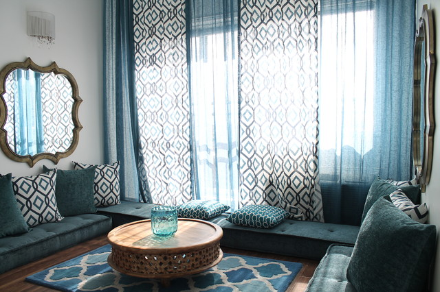 moroccan-inspired condo (2013) - mediterranean - living room