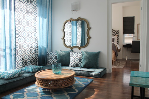 Get The Look: The Cool Thing About Moroccan Decor Is You Can Achieve The  Aesthetic With Simple Fabrics. This Room Focuses On A Soft Color Palette To  ...